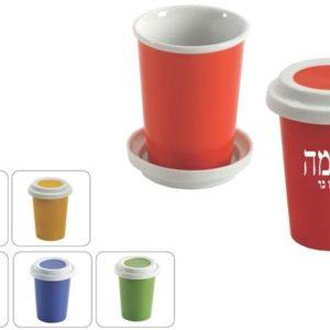 כוס פורצלן ומכסה