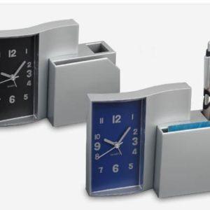שעון שולחני מעמד לעטים וניירות