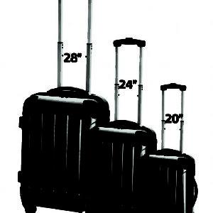 סט מזוודות קשיחות