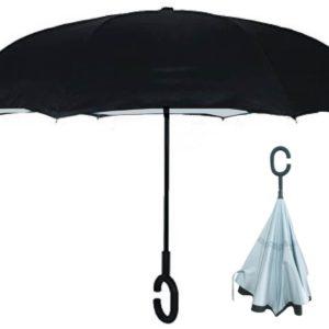 מטריה בעלת פטנט מיוחד לפתיחה וסגירה הפוכה!