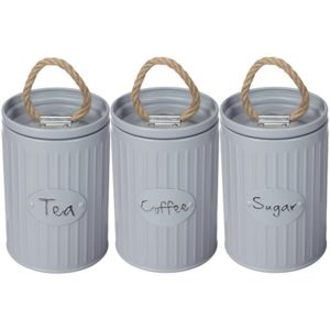 סט קפה תה סוכר – קופסאות מתכת