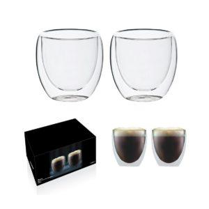 זוג כוסות דופן כפול