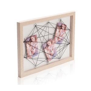 מסגרת עץ  חוטים