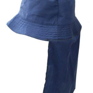 כובע רחב שוליים כיסוי צוואר