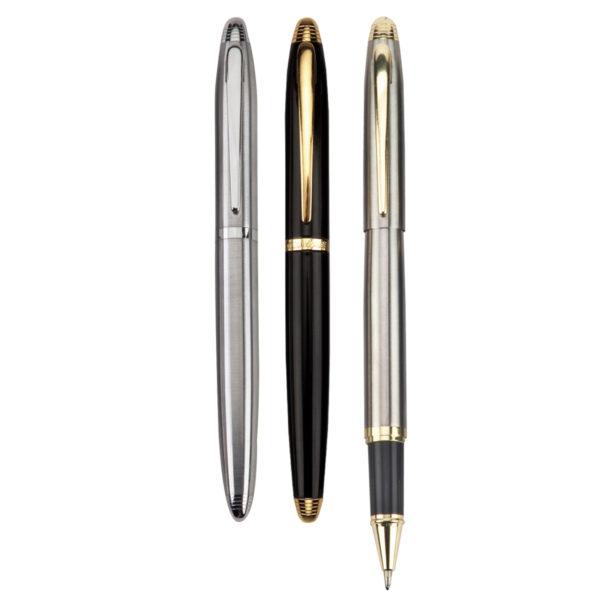 מוצרי פרסום עטים בצבע שחור וכסף
