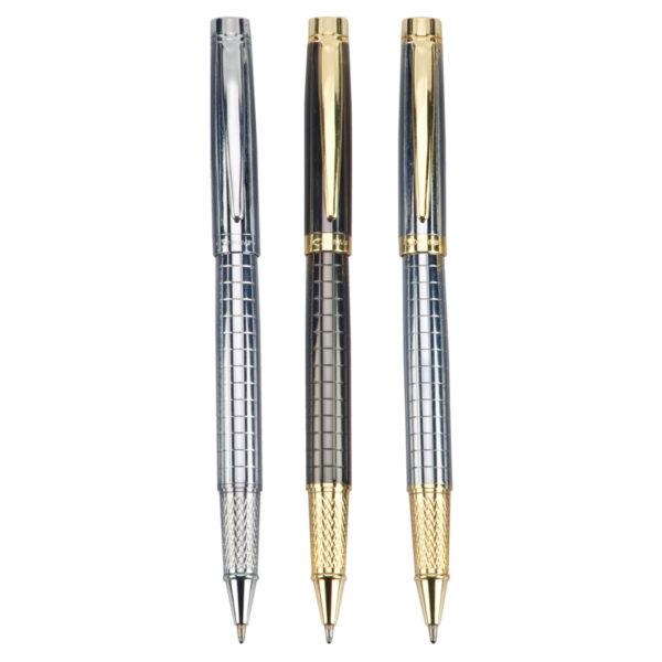 מוצרי פרסום עטים בצבע זהב חום וכסף