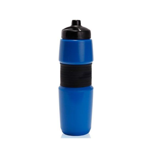 מוצרי פרסום של בקבוק שתייה בצבע כחול