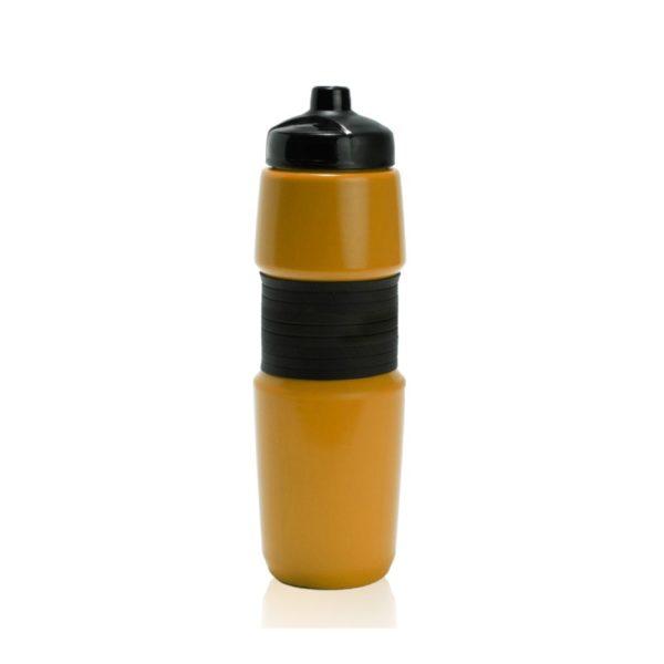 מוצרי פרסום של בקבוק שתייה בצבע צהוב