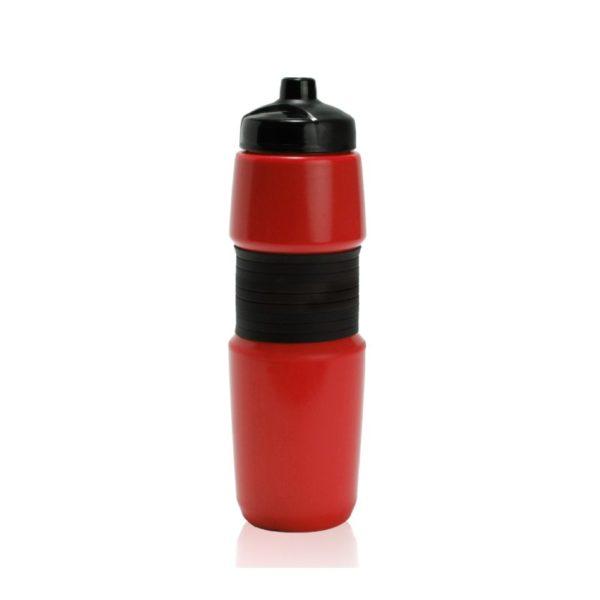 מוצרי פרסום של בקבוק שתייה בצבע אדום