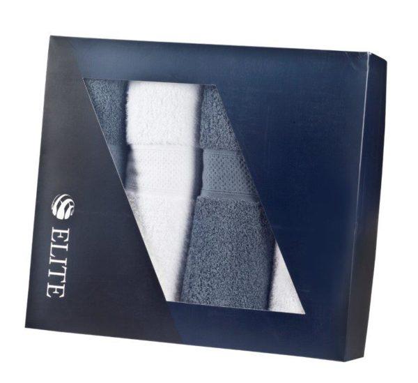 מוצרי פרסום מגבות בצבע לבן וכחול