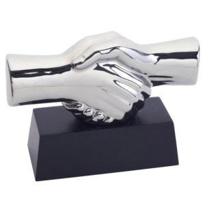 מוצרי פרסום של יד לוחצת יד