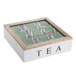 קופסת תה עץ