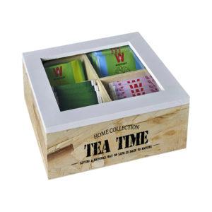 קופסה תה 4 תאים
