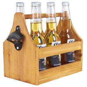 מנשא עץ לבקבוקים