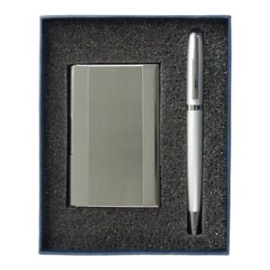 סט עט קופסה כרטיסי ביקור