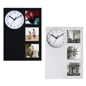 שעון קיר 3 מסגרות תמונה