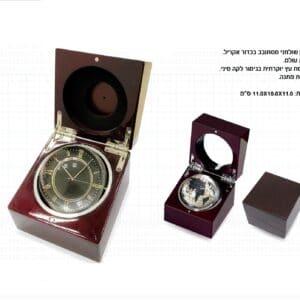 שעון שולחני מסתובב בכדור אקריל