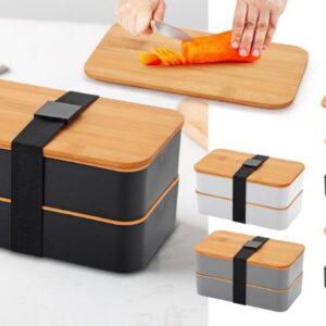 קופסה לאוכל מכסה במבוק